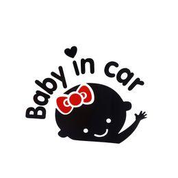 "Wholesale Wholesale Vinyl Windows - 1 Pcs Car-Styling Cartoon Car Stickers Vinyl Decal Baby on Board ""Baby in car"" Window Rear Windshield Cute Car Sticker"