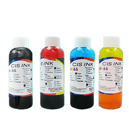 y c Promo Codes - Free Shipping 100ML x 4PCS Universal Edible Ink For for Canon Desktop 4 color Inkjet Printer BK C M Y