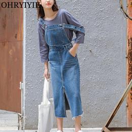 2019 jeans vintage vestito OHRYIYIE 2018 primavera estate donne abito denim  femminile cinturino alla moda al d30acc64e20