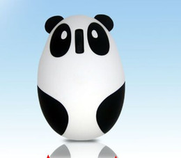 Wholesale Panda Mouse - New 2.4GHz Wireless mice Rechargeable Optical Cartoon Panda Computer Mouse Mice for Win Mac Linux Andriod IOS Hot Promotion