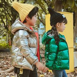 crianças vestindo roupas quentes Desconto FTLZZ Crianças Meninos Meninas Para Baixo Parkas Unisex Tops Bebê Jaqueta Para Meninas Outerwear Criança Crianças Quentes Roupas de Neve Desgaste
