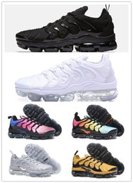 Wholesale Tassel For Shoe Laces - Vapormax TN Plus VM Olive In Metallic White Silver Colorways Shoes Men Running Shoes For Male Shoe Pack Triple Black Mens Shoes
