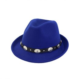 Wholesale British Coupling - Men's British Style Spring And Autumn Black Hair Jazz Wool Hat Ladies' Couple Hats And Stage Hats