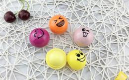 Fumetti di smiley online-new Expression sferico rossetto palla a sfera rossetto cartoon smiley rossetto rotondo balsamo labbra sferico naturale idratante