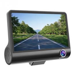 Wholesale Monitor Video Recorder - driving recorder hd night vision monitor smart car camera1080P 3 Lens Car DVR Dash Cam G-sensor Video Recorder + Rearview Camer