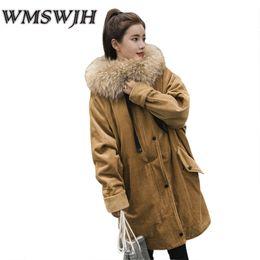 Canada 2017 Hiver Femmes Manteau De Mode Femmes À Capuchon En Velours Coton Veste Épaisse Fourrure Col Parka Chaud Hiver Vestes Outwear WS287 cheap corduroy collar jacket Offre