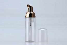 bouchon en caoutchouc de bouteille en verre en gros Promotion 50ml en plastique bouteille de mousse pompe blanc distributeur de savon liquide meilleur moins cher bouteille de mousse avec foamer doré