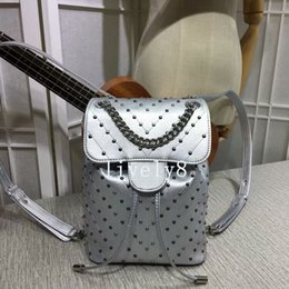 Wholesale Silver Barrel Beads - Hot sales Newest Style High quality Beads Ornament Fashion casual womens Backpack Style Shoulder Bag totes Leathers handbags Backpack Style