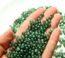 Myanmar bienes naturales A jade bricolaje cuentas sueltas granos de jade semillas de hielo cuentas verdes 3--4mm pulsera de jade desde fabricantes