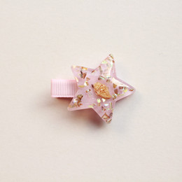 Niña estrella coreana online-Pinza de pelo de estrella de mar de verano para niñas Accesorios para el cabello de niñas brillantes coreanas Pinzas de estrella de mar rosa Estrellas Princesa Horquilla linda