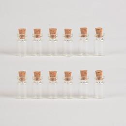 Canada 100 pcs 13x24x6 mm Bouteilles en verre pendentifs avec bouchons bricolage cheap empty pendant vial Offre