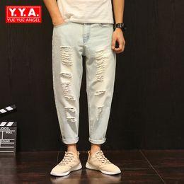Distribuidores de descuento Pantalones Coreanos Para Hombre ... 677fdb580d9c