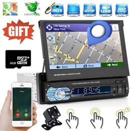 "7 ""Car MP5 Player 1 DIN Single Radio GPS Nav Stereo Bluetooth FM Camera + Mappa da gps dell'automobile nav fornitori"