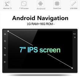 """gsm gps gps детский трекер для автомобиля Скидка Myfuncars 7 """" RDS 2 Din Android автомобильный радиоприемник универсальный GPS навигация Bluetooth WiFi 1024 * 600 Авторадио стерео FM аудио камеры DVD-плеер автомобиля"""