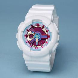 Accesorios reloj de pulsera online-Nueva digital LED damas cuarzo reloj deportivo correa de goma ejército militar reloj de cuarzo impermeable accesorios de muñeca y todas las cajas funcionales bebé
