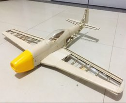 Wholesale Free Rc Plane - RC Plane Laser Cut Balsa Wood Airplane Kit New P51 Frame without Cover Free Shipping Model Building Kit