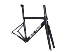 Wholesale Road Bike Decals - 2018 new design carbon road frame Di2 free shipping white decals frame+clamp+seatpost+headset ud  3k racing frame carbon fiber road bike