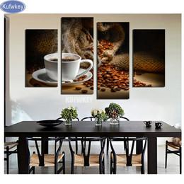 image diamant broderie vente diamant peinture café plein carré mosaïque moderne cuisine décor de strass point de croix 4pcs ? partir de fabricateur