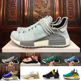 e229ff23845a2 2018 Pharrell Williams HU NMD Sneakers Trail Human Race Mens Women Running  Trainers Shoes