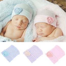 2018 nouvelle arrivée mignon nouveau-né bébé bébé fille chapeaux coton  Casual populaire enfant en bas âge confortable bowknot hôpital casquette  chaude ... 1db1e2d80ff