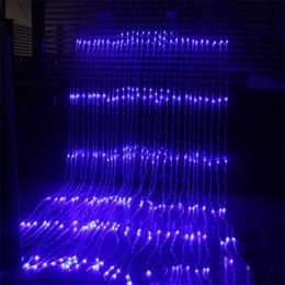 2019 éclairage à rideau à cordes cascade conduit 3X3M 320 LED Cascade Chutes De Neige Glaçon LED Chaîne Lumière Meteor Douche Pluie Effet Ficelle Lumière De Noël Lumière De Mariage éclairage à rideau à cordes cascade conduit pas cher