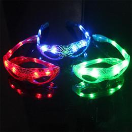 Wholesale Led Light Eye Mask - HOT LED Light Glasses Spider Man Eye Mask Flash Glasses Sunglasses Dances Party Supplies Festival Decoration