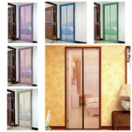 Wholesale pet fly - 6 styles Mosquito Door Net Mesh Curtain Bug Pet Patio Hands Free Magnetic Closer Anti Mosquito Bug Fly Curtain FFA471