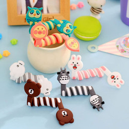 Wholesale Earphone Wire Winder - Cartoon Animals Wire Manager Earphones Organizer Cable Winder Cord Router for iphone