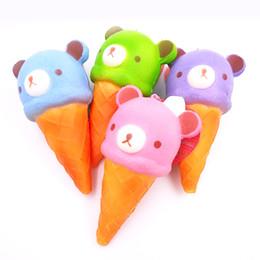 Crema de rilakkuma squishy online-14.5cm Lindo y delicioso helado Squishy Rilakkuma Kids Toy Ballchain Colección suave