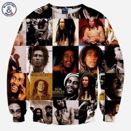 2019 bob marley tops Mr.1991INC Bob Marley Sweatshirts Männer / Frauen langarm 3d Sweatshirt drucken lässige Hoodies Tops Trainingsanzüge Pullover günstig bob marley tops