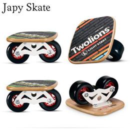 2019 revestimiento de aluminio Japy Skate Classic Maple Drift Board Silver Aluminium Free Line Drift Skates Scrub Patines Antideslizante Skateboard Deck 82A Ruedas rebajas revestimiento de aluminio