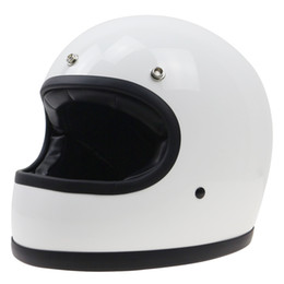 simple gears Promo Codes - Vintage helmet Simple structure designed full face motorbike helmet racing DOT approved safety bike gear Classic design