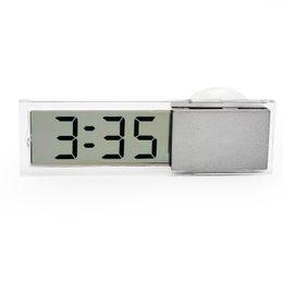 2015 HOT NEWCar Horloge Électronique Mini Durable Transparent LCD Affichage Numérique avec Sucker Ornements De Voiture En Verre #iCarmo ? partir de fabricateur