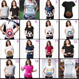 Semi di anguria online-Top maternità T-shirt donna incinta T-shirt manica corta estiva donna estate manica corta Non mangiare semi di anguria Stampa T-shirt