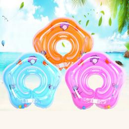 Anéis infláveis para a natação do bebê on-line-2018 Novo círculo Inflável Nadar Anel Pescoço Natação acessórios nadar ting Para o bebê Engraçado anel de segurança no pescoço Vida flutuador Colete