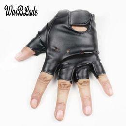 Mädchen leder fingerless handschuhe online-WarBLADE 5-13 Jahre Kinder Handschuhe Jungen Mädchen Ledergolf halbe Fingerlose Handschuh Half Finger Kinder Sport wasserdichte Handschuhe