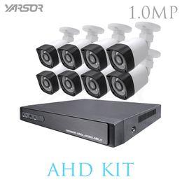 Wholesale Hdmi 8ch - AKT1008DHB 8CH DVR 720P HDMI CCTV System Video Recorder 8PCS Home Security Waterproof Night Vision Camera Surveillance Kits