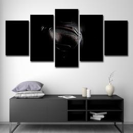 artes do logotipo Desconto 5 Peças Superman Logo Wall Art Imagem Moderna Decoração de Casa Sala de estar Ou Quarto Cópia Da Lona Pintura Retrato Da Parede