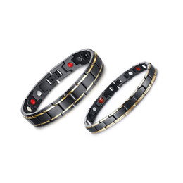 fishing bracelets for men Coupons - 316L Stainless Steel Health Energy Bracelet Men s Titanium Steel Bio Magnetic Therapy Power women's Bangle For couple Fashion Jewelry Gift