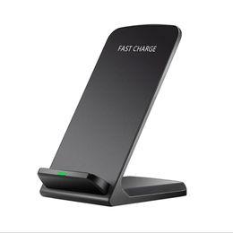 menor preço de telefones Desconto Preço baixo QI Stander Carregador Sem Fio Carregador de Telefone Móvel Rápido Sem Fio Inteligente para iPhone X / 8 p / 8 Samsung S9 / s8 / s7 E385