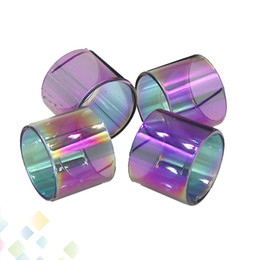 Un tubo online-Tubo de vidrio de color del arco iris TFV8 BABY TFV12 PRINCE BABY vape pluma 22 Brit One Mini Pyrex Reemplazo tubo de la manga de vidrio DHL gratuito