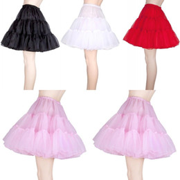 Wholesale crinolines for girls - Free Shipping Wedding Petticoats Short Girls Skirt Pettiskirt Womens Puffy Crinoline Vintage Petticoats Tutu Skirt For Girls CPA261
