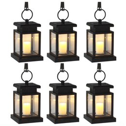 Wholesale Effect Power - (6   Pack) Solar Power LED Hang Light Outdoor Lantern Candle Effect Night Light for Garden Patio Deck Yard Fence Driveway Lawn