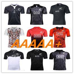 c0cd360126 Top 2017 Nova Zelândia Todos Preto Rugby Camisa de Rugby Camisa de Futebol  Jerseys Homens S-XXXL 2018 17 18 treinamento Top Thai Qualidade Mais 3XL