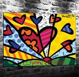 2019 malerei bestellen Obras De Romero Britto, Leinwand Stücke Wohnkultur HD Gedruckt Moderne Kunst Malerei auf Leinwand (Ungerahmt / Gerahmt)