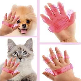 2019 katze hand pinsel Haustiere Massage Kamm Bad Bürste für Hunde und Katzen waschen Kopf Kopfhaut Handbürste Heimtierbedarf günstig katze hand pinsel