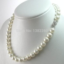 Wholesale South Sea Shell Pearls Wholesale - whole sale8mm Amazing White South Sea Shell Fashion Pearl Necklace Beautiful Girls And Mother Jewelry Gifts