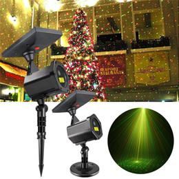 festival de lampe Promotion Lampe de projecteur laser LED solaire extérieure 2018 fête de Noël lumières de la pelouse festival Spotlight Fairy Lights lampe de jardin laser étoilée
