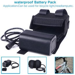 Wholesale Rechargeable Battery Packs For Bicycles - Waterproof 8.4V 6400mAh 4x18650 Rechargeable Battery Pack For LED Bicycle Lights Lithium Batteries Bicycle Accessories