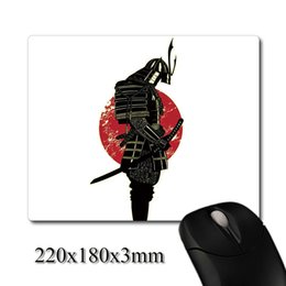 Wholesale Pattern Mouse - The decline of Japanese Samurai warriors pattern printed Heavy weaving anti-slip rubber pad office mouse pad Coaster Party favor